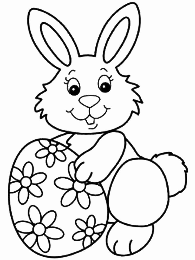 Spring Bunny Coloring Pages in 2020 Bunny coloring pages