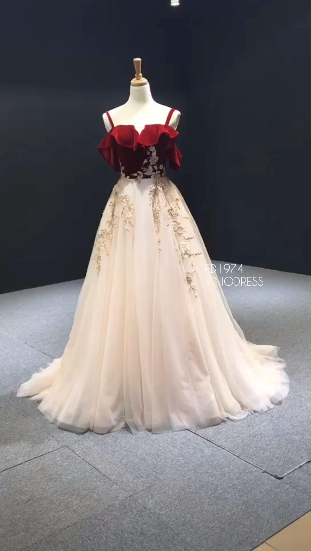 Photo of New Burgundy Velvet Long Prom Dresses with Straps FD1974 #fancydress New Burgundy …