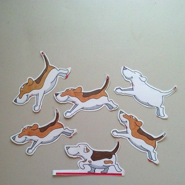 Beagles! #adhesiveart #cutecoolawesome