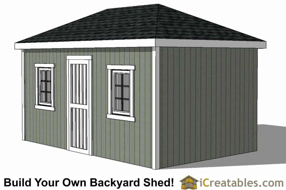 10x16 Hip Roof Shed Plans Double Door Side Hip Roof Shed Plans Shed