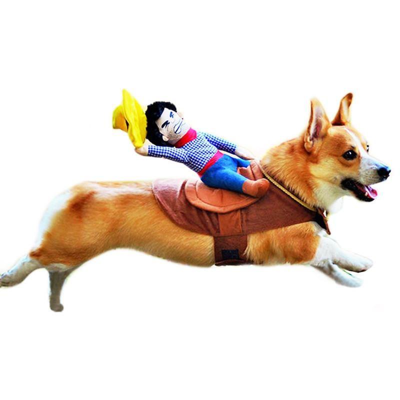 Dog Fancy Dress Cowboy Clothes Pet Novelty Party Costume