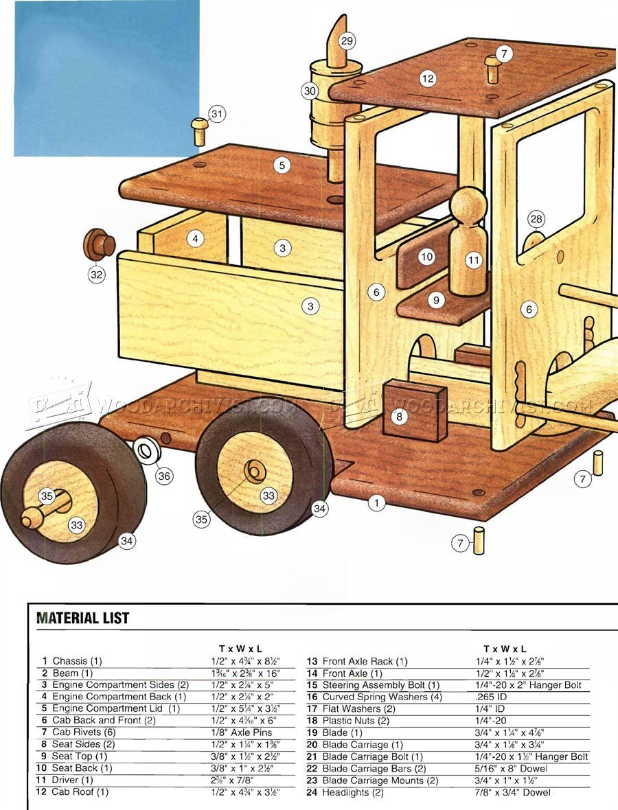 wooden road grader plans - wooden toy plans | trucks