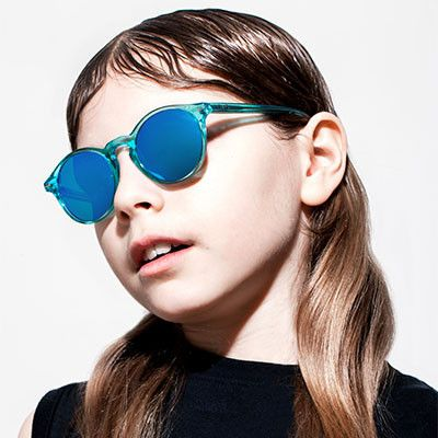 61813511a Blue Jelly Mirror Clark Sunglasses by Sons + Daughters Eyewear ...