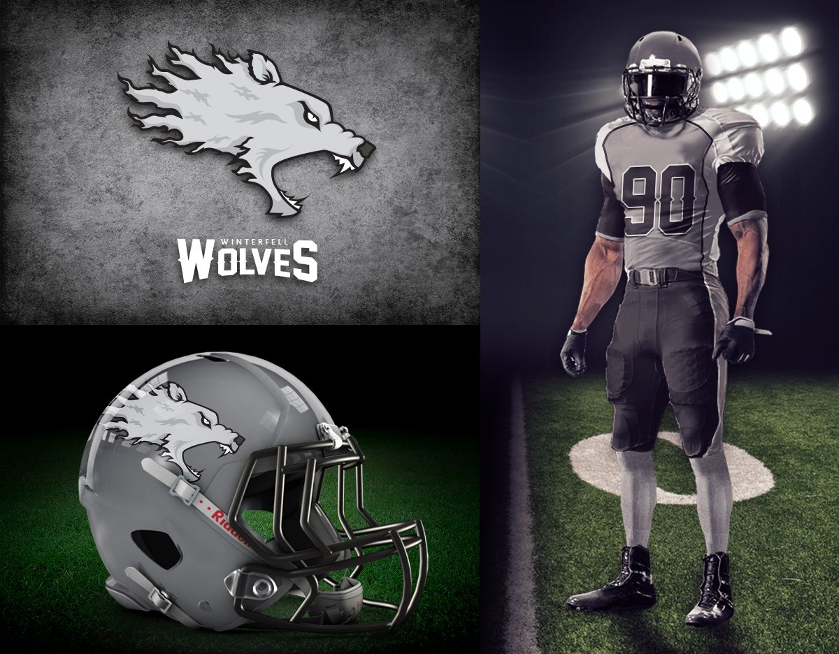 Fantasy Football Game of Thrones Logos and Uniforms in