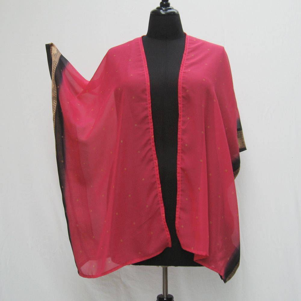 Hot pink Kimono, plus size kimono jacket, cover up, boho kimono ...