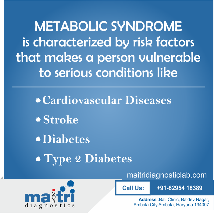 MetabolicSyndrome makes a person vulnerable to serious