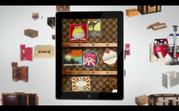 "Video   Louis Vuitton presents ""100 Legendary Trunks"" iPad Application"