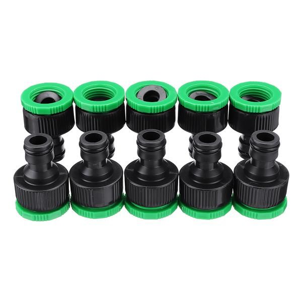 10pcs 1 2 3 4 Inch Faucet Adapter Female Washing Machine Water Tap Hose Quick Connector Garden Irrigation Fitting In 2020 Water Tap Faucet Garden Irrigation