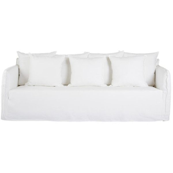 Bronte White Italian Linen Sofa Removable Slip Cover Liked On