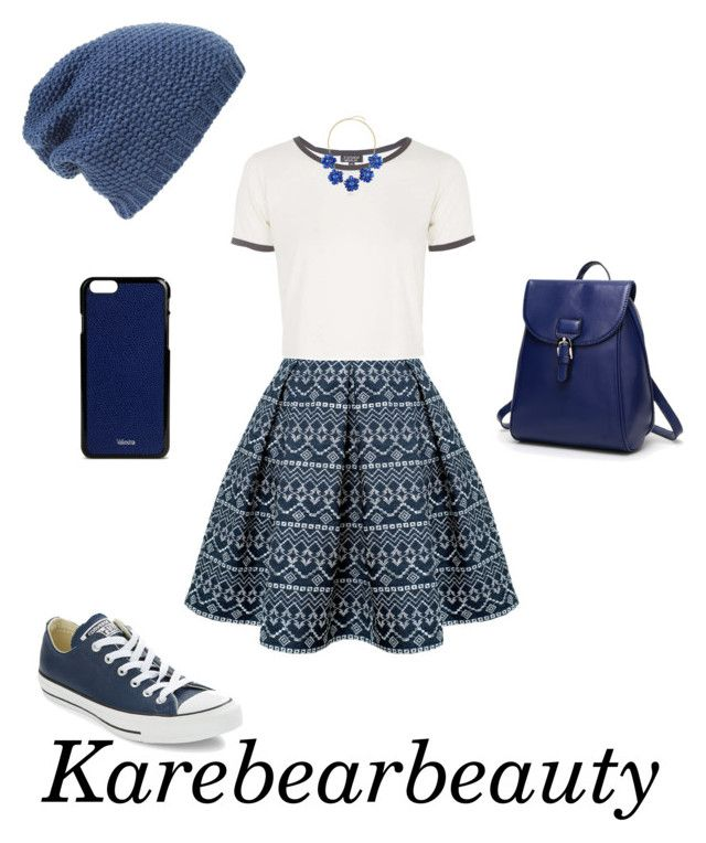 """School"" by karebearbeauty ❤ liked on Polyvore featuring Rumour London, Topshop, Converse, Phase 3, BERRICLE and Valextra"