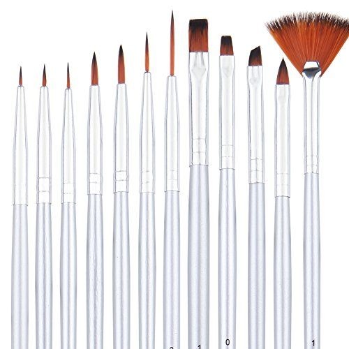 Dainayw Detail Paint Brush Set 12 Miniature Art Brushes For Fine