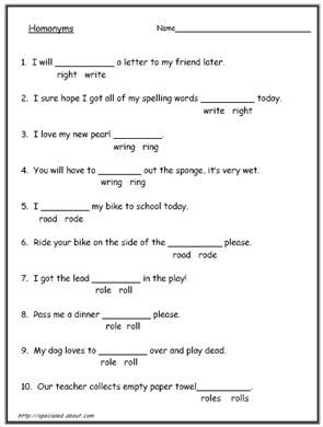 200 Homonyms Homophones And Homographs With Exercises Homophones Worksheets Homonyms English Worksheets For Kids