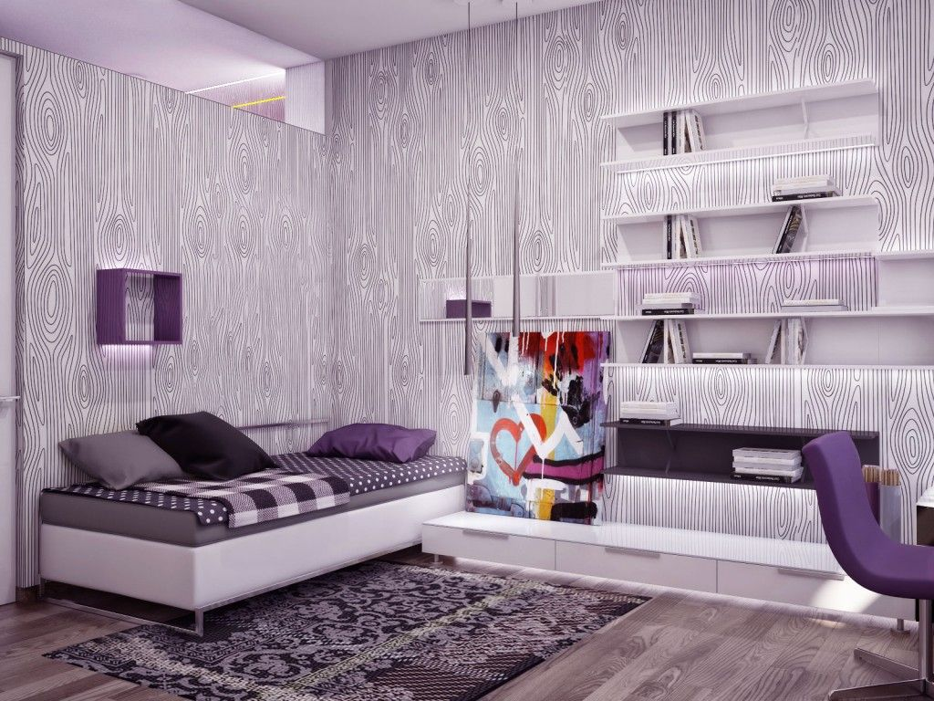 30 Best Ideas About Living Rooms With White Brick Walls  Purple Enchanting Purple Bedroom Colour Schemes Modern Design Inspiration