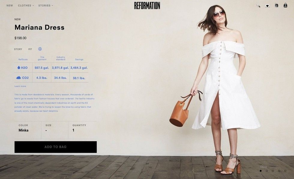 7449d6a28e Eco Conscious Dress Brand Reformation Launches Refscale and Low Carb For  Earth Day 2015