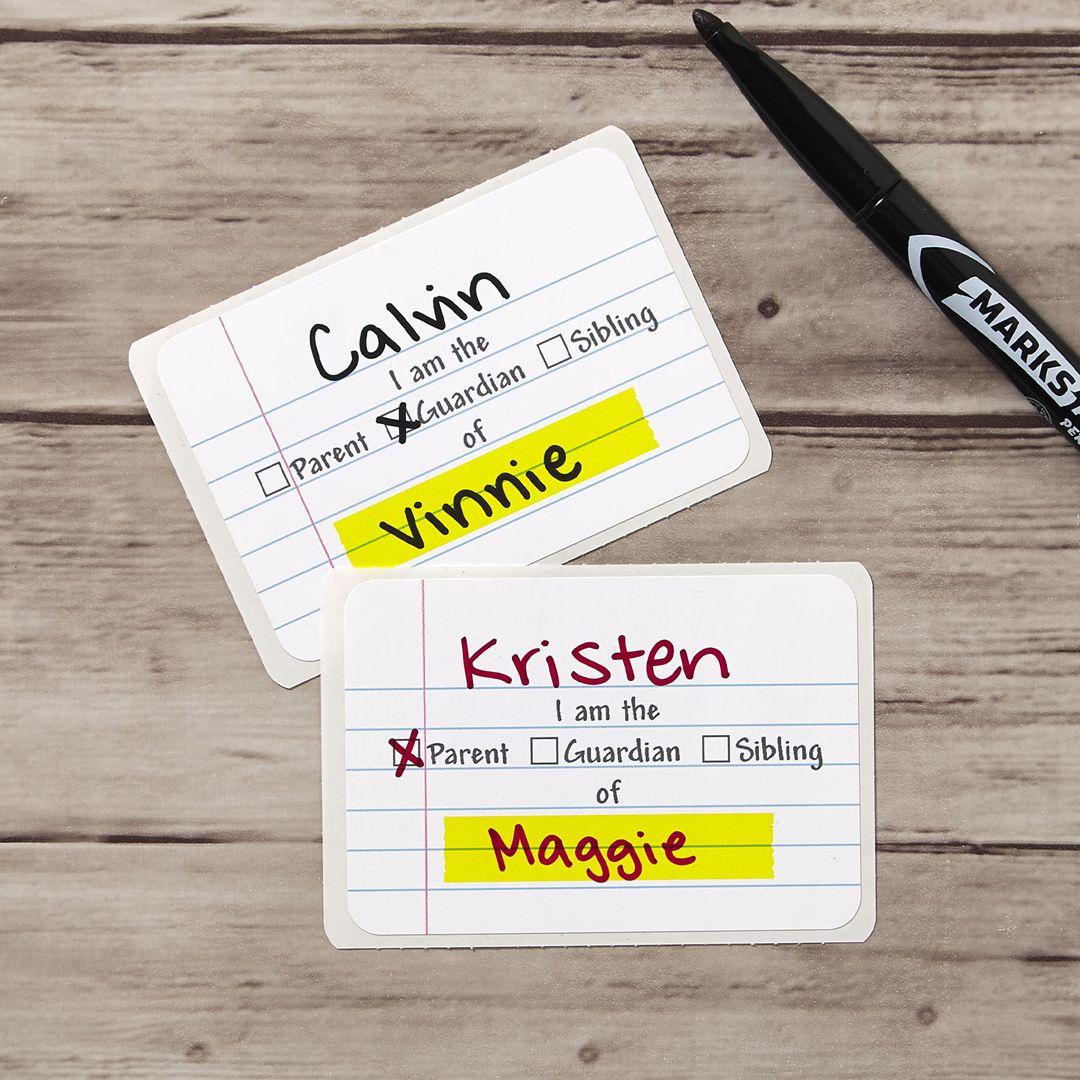 Clroom Volunteer Name Tags