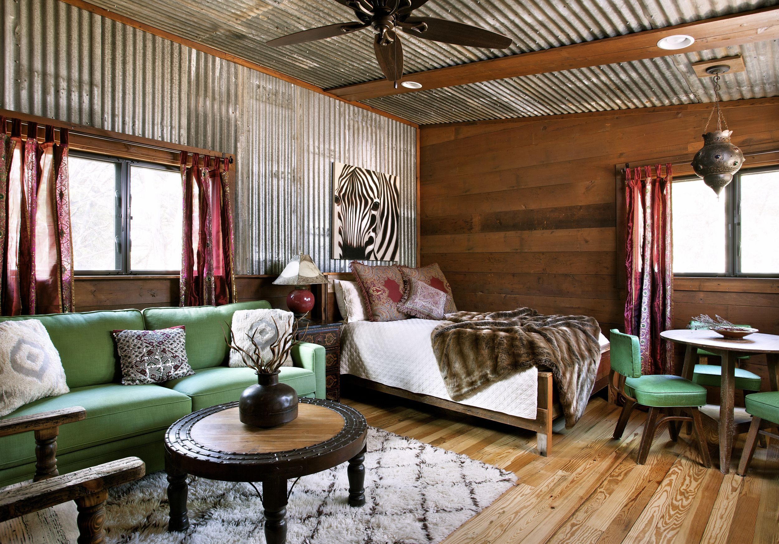 Reclaimed Tin As Interior Design In 2019 Barn Loft