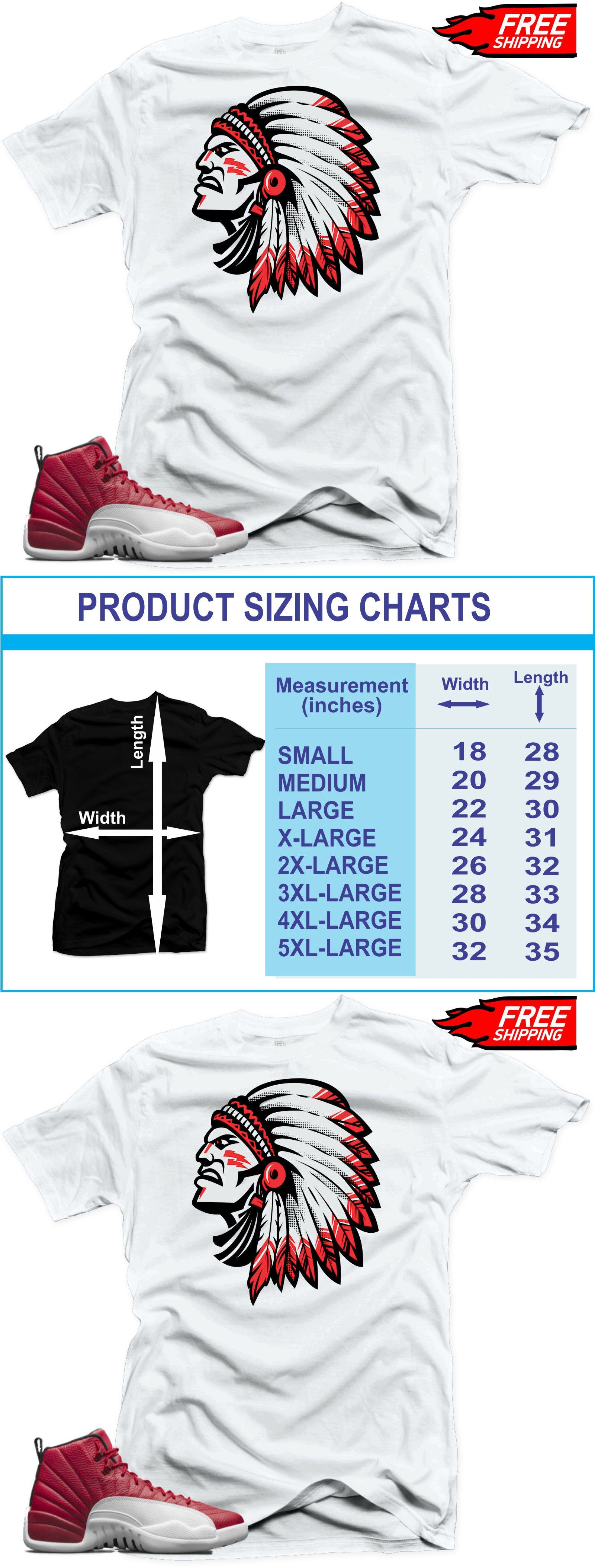 457264a629f57a Clothing Shoes and Accessories 158963  T-Shirt To Match Jordan Retro 12  Alternate Gym Red Sneakers Chief White Tee -  BUY IT NOW ONLY   26.32 on   eBay ...