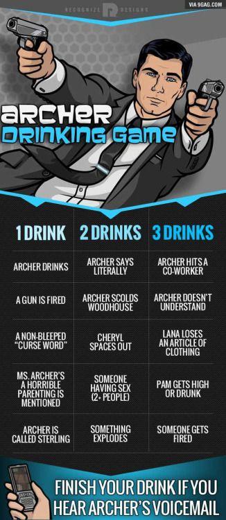Archer drinking game!