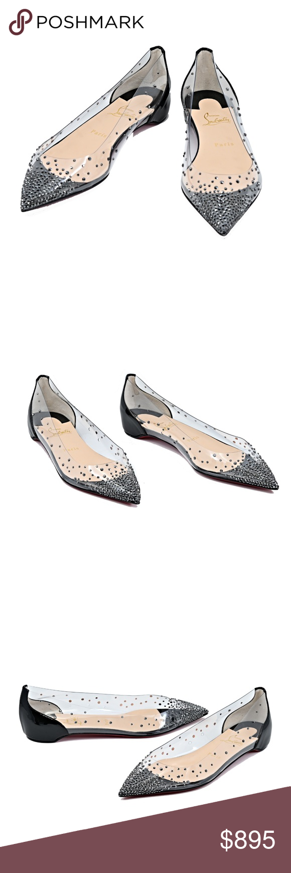 317ea219784 Christian Louboutin Degrastrass Red Sole Flats SAME DAY SHIPPING (ALL MY  ITEMS ARE IN STOCK