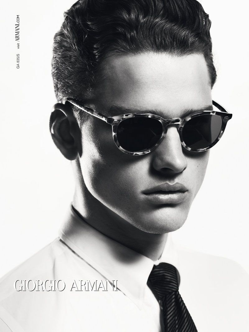 ccb8705c3df7 Luxury and Designer Sunglasses and Eyeglasses. Simon Nessman photographed  by Mert Alas and Marcus Piggot for Giorgio Armani Fall Winter 2012 Campaign.