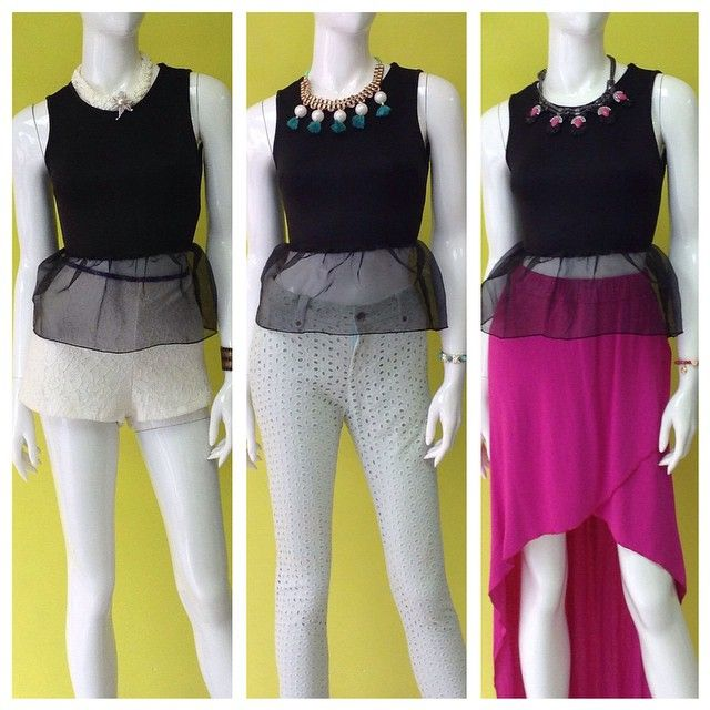 Combinando la misma blusa con 3 bottoms diferentes #peplum #atrévete #combina #amolapeli