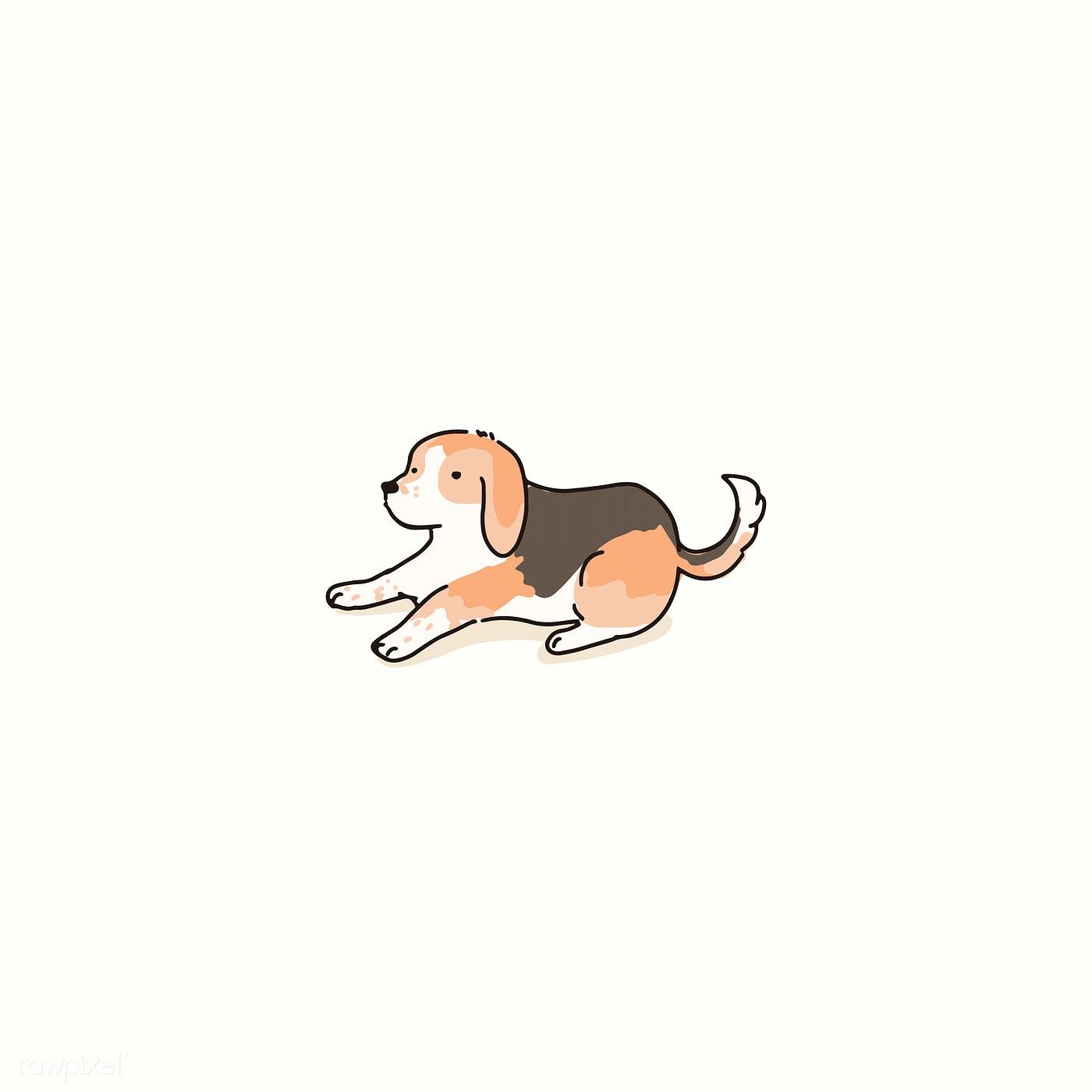 Beagle Dog Doodle Element Vector Premium Image By Rawpixel Com Niwat In 2020 Cute Doodles Dog Drawing Beagle Art