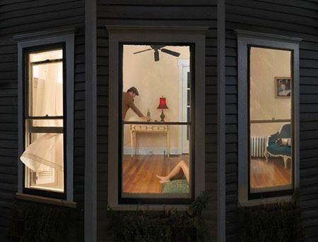 Julie Blackmon - Night Windows - 2008