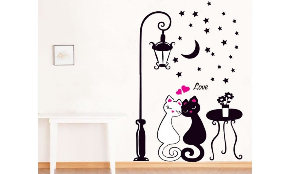 Cats Wall Decals Hm90099 In 2020 Sticker Decor Wall Stickers