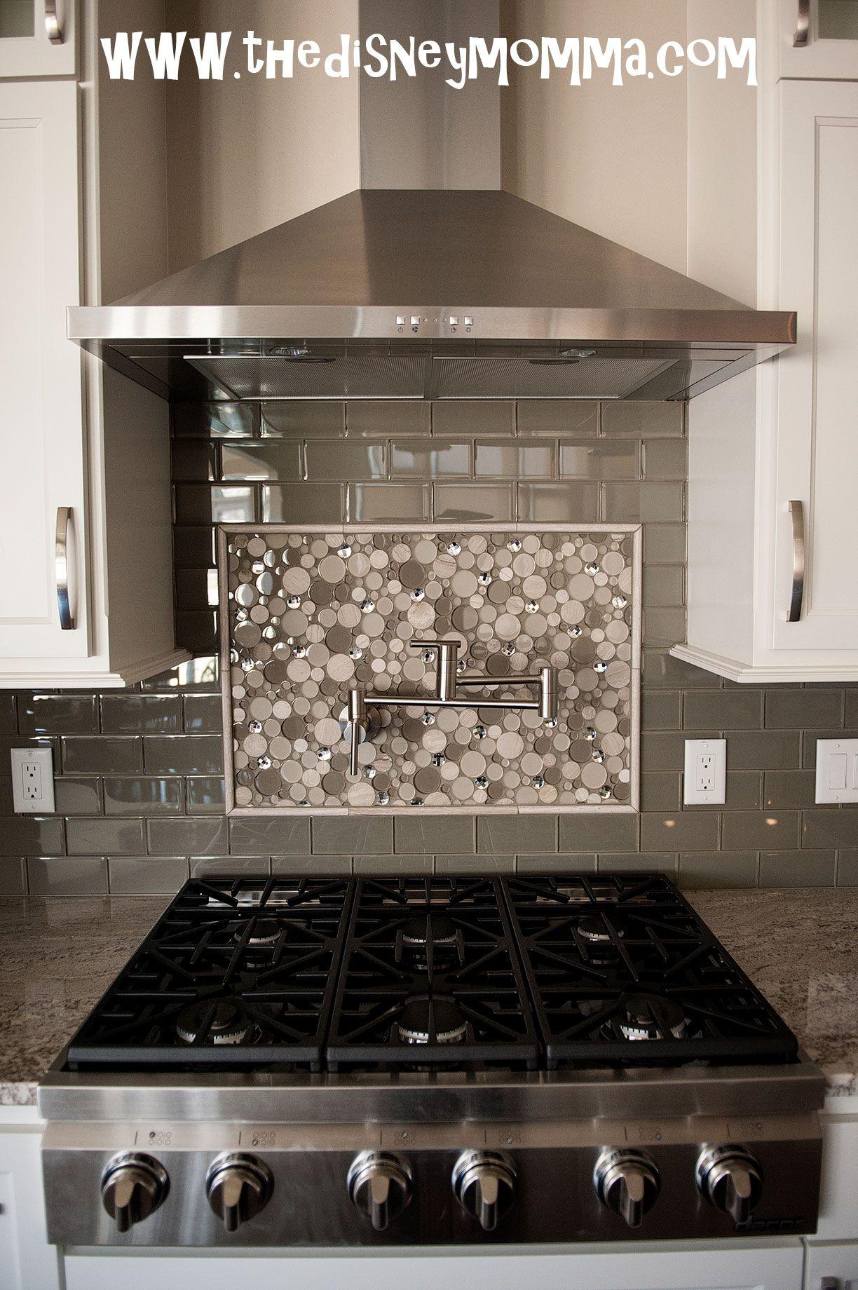 Dacor 36 Gas Cooktop Gl Subway Tile Accent Back Splash Danze Pot Filler