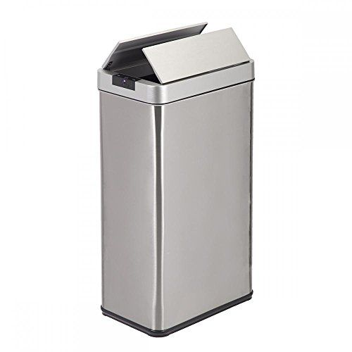 Automatic Touch Free Sensor Trash Can Side By Side Door S