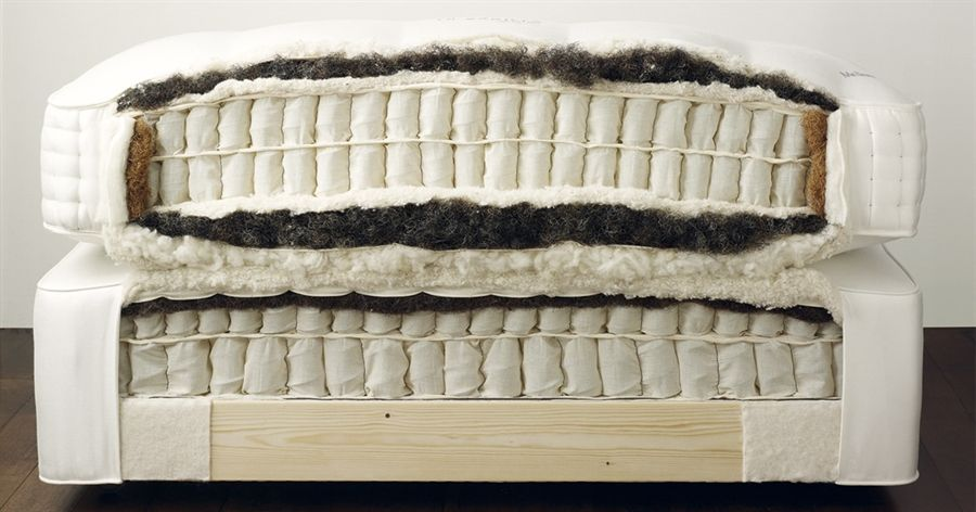 Vi Spring Mattress Coils Wred In Calico Fabric Springs Surrounded By Horsetail