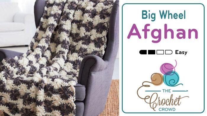 Bernat Blanket Big Wheel Crochet Afghan + Tutorial | Häkeln