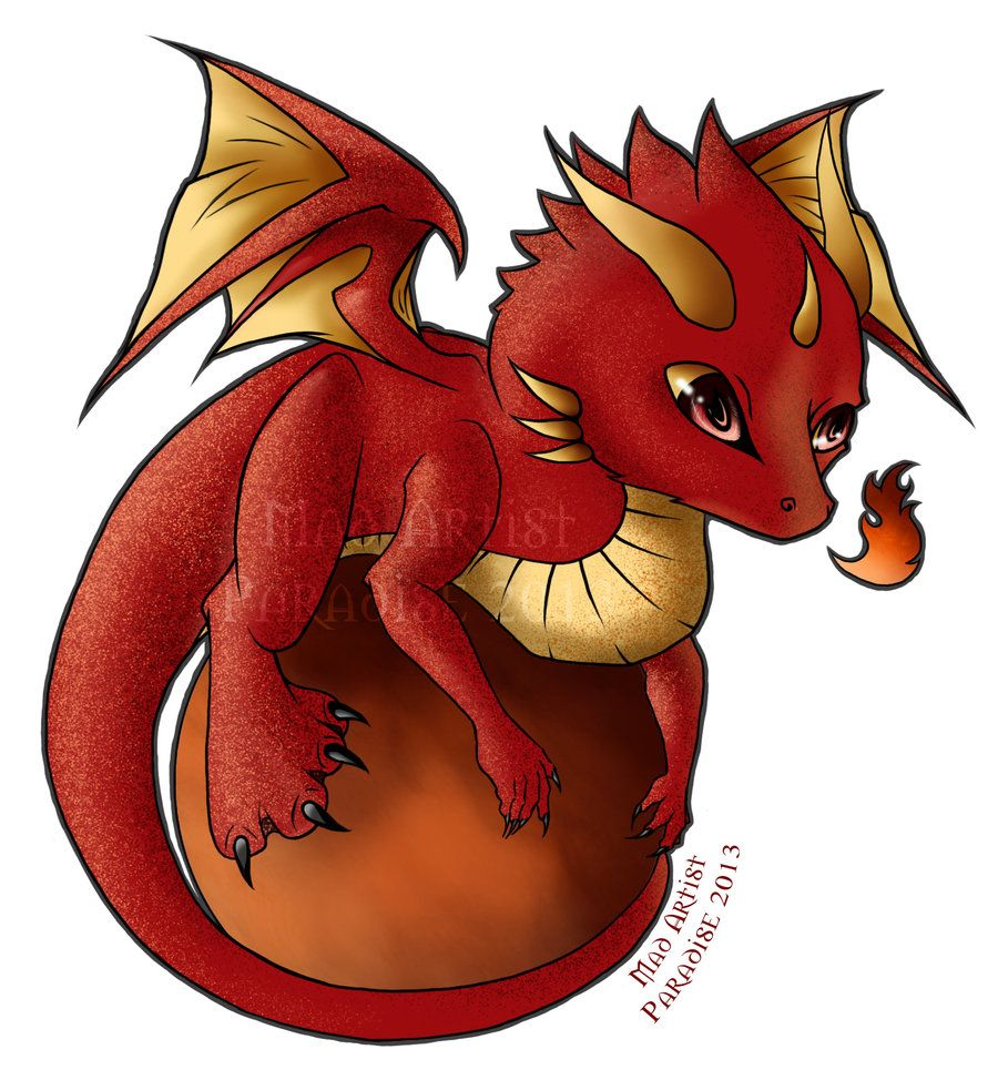 Chibi Fire Dragon By Madartistparadise On Deviantart Dragon Drawing Chibi Dragon Fire Dragon