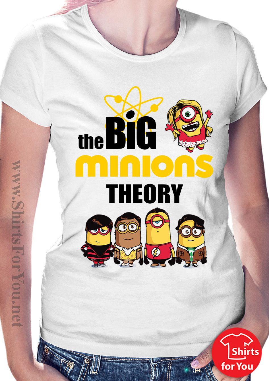 The Big Minions Theory Womens T Shirt Minions T Shirts Pinterest