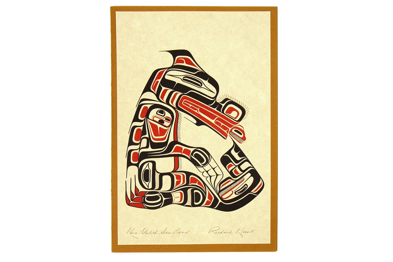 Native American Print, Richard Hunt Artwork, Kwa Gulth Sea Bear ...