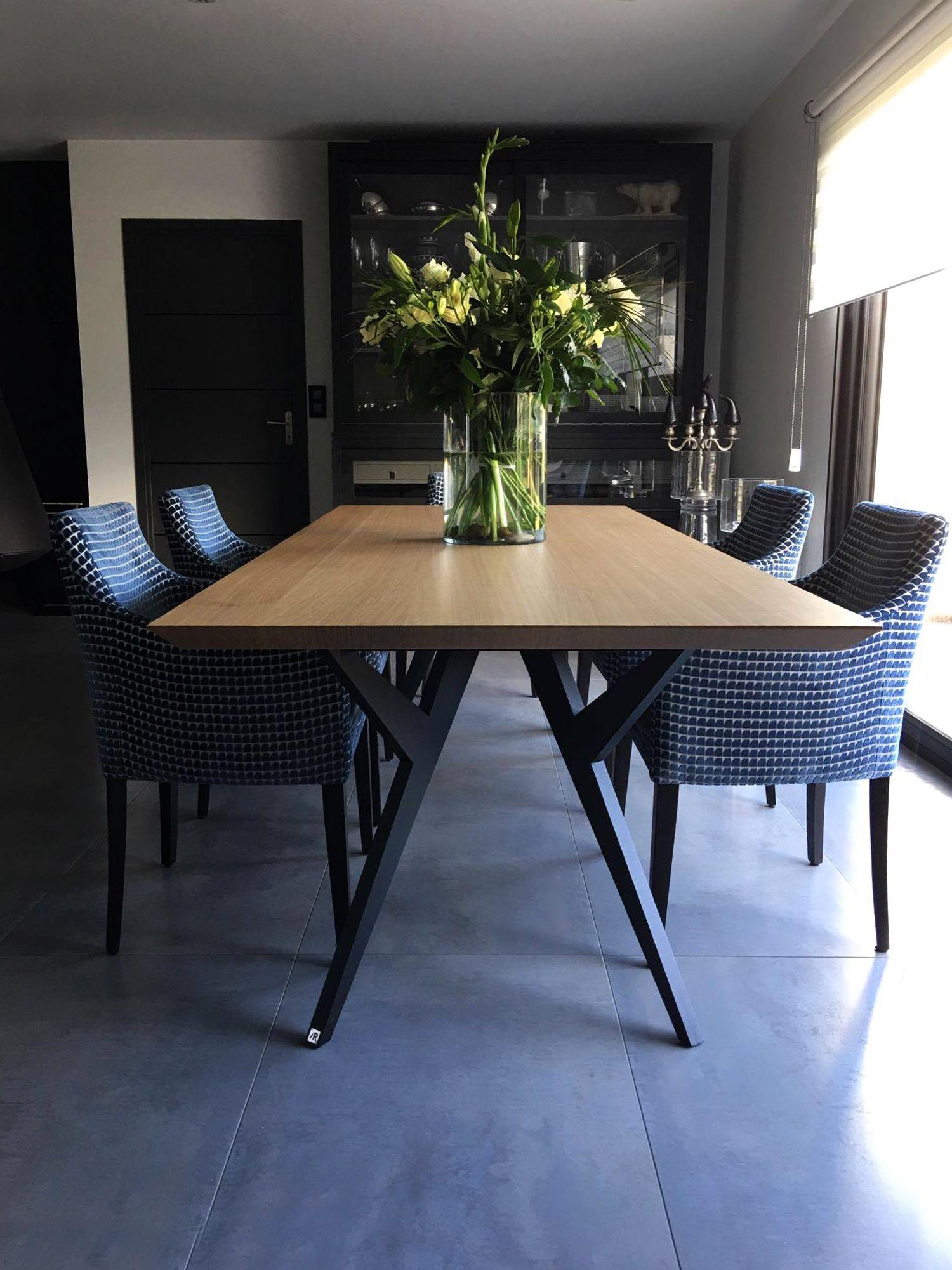 Table Ma Reine Metal Et Bois Massif Design Epure Fabrication