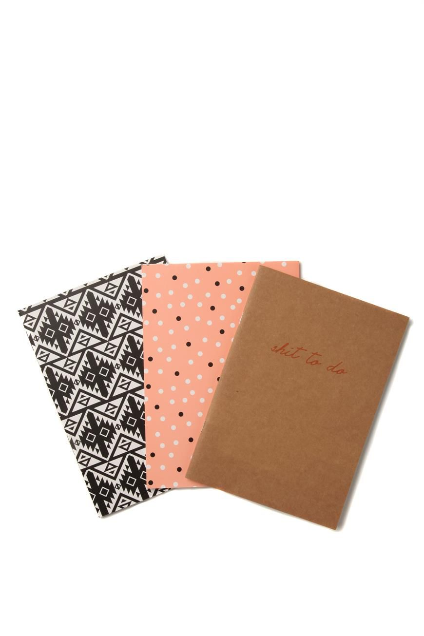 3pk Of A5 Notebooks Aztec Office Organisation Cute Stationary Notebook