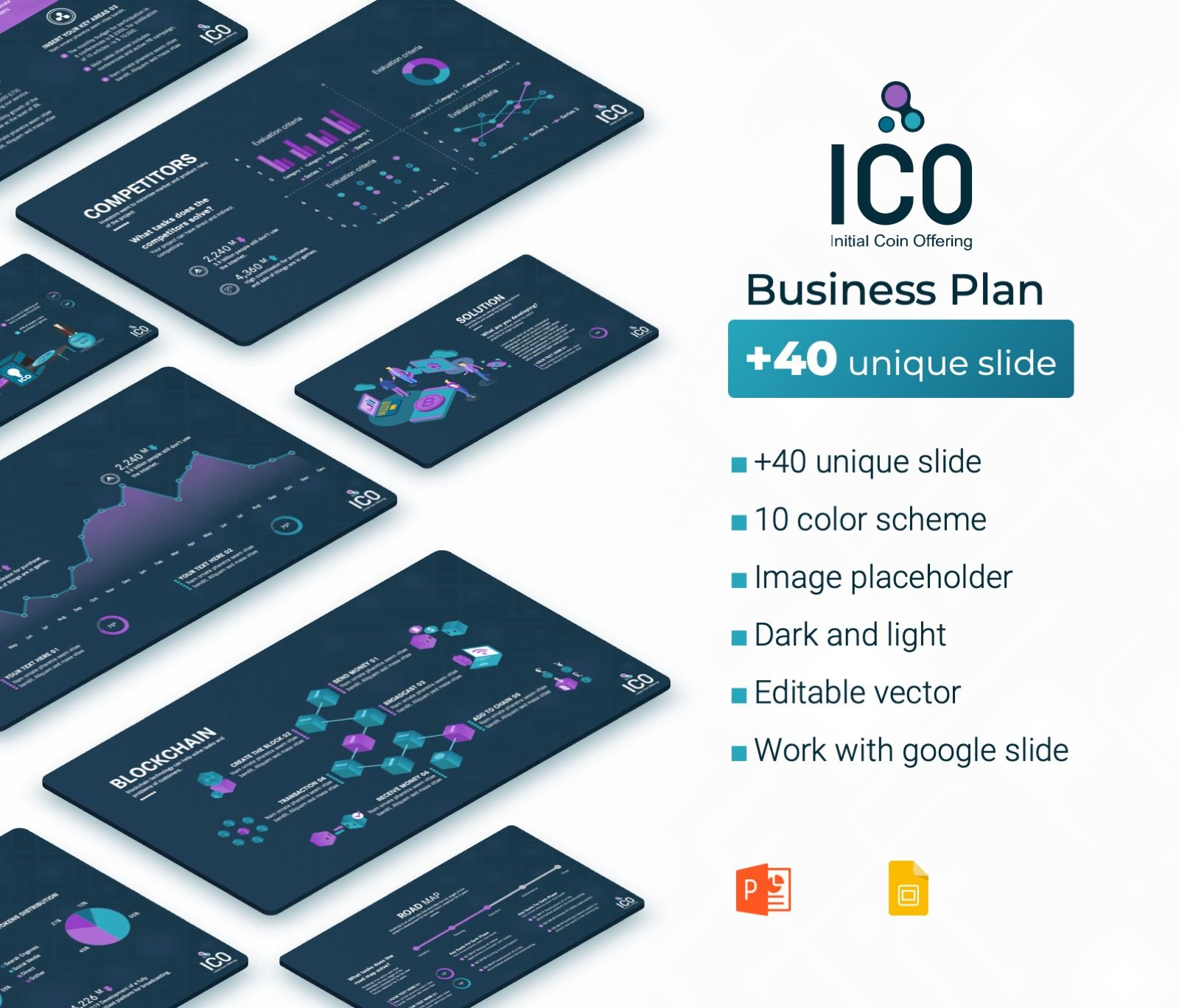 Ico Business Plan Presentation Powerpoint Template Premast Business Plan Presentation Business Planning How To Plan