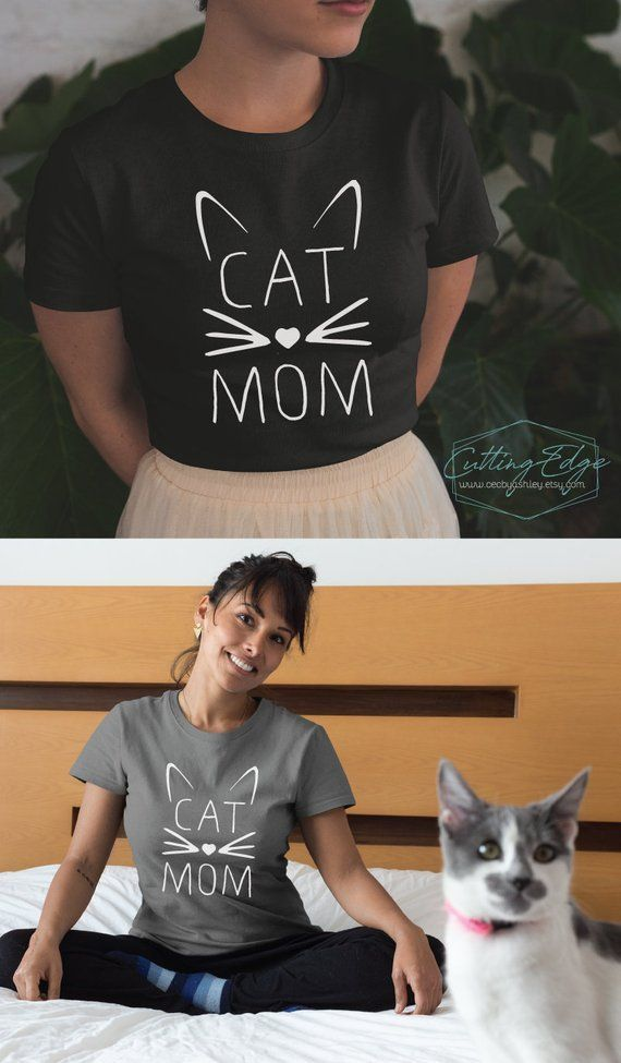 Cat mom shirts, gifts for her,cat mom funny, cat q