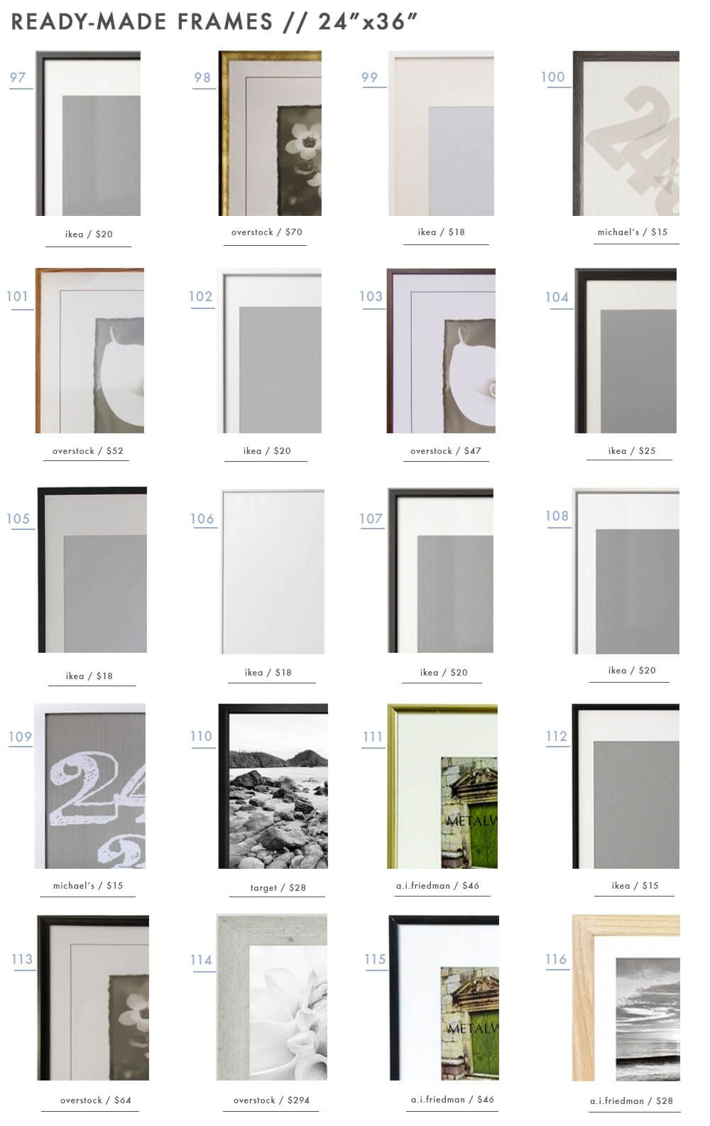 128 Ready-Made Frames to Get You \'Gallery Wall Ready\' | Gallery wall ...
