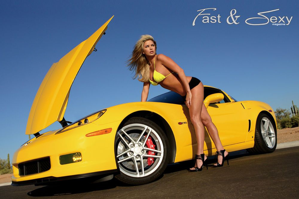 C Corvette Z Chevrolet Fast Sexy Poster Hot Girls And - Fast car magazine models