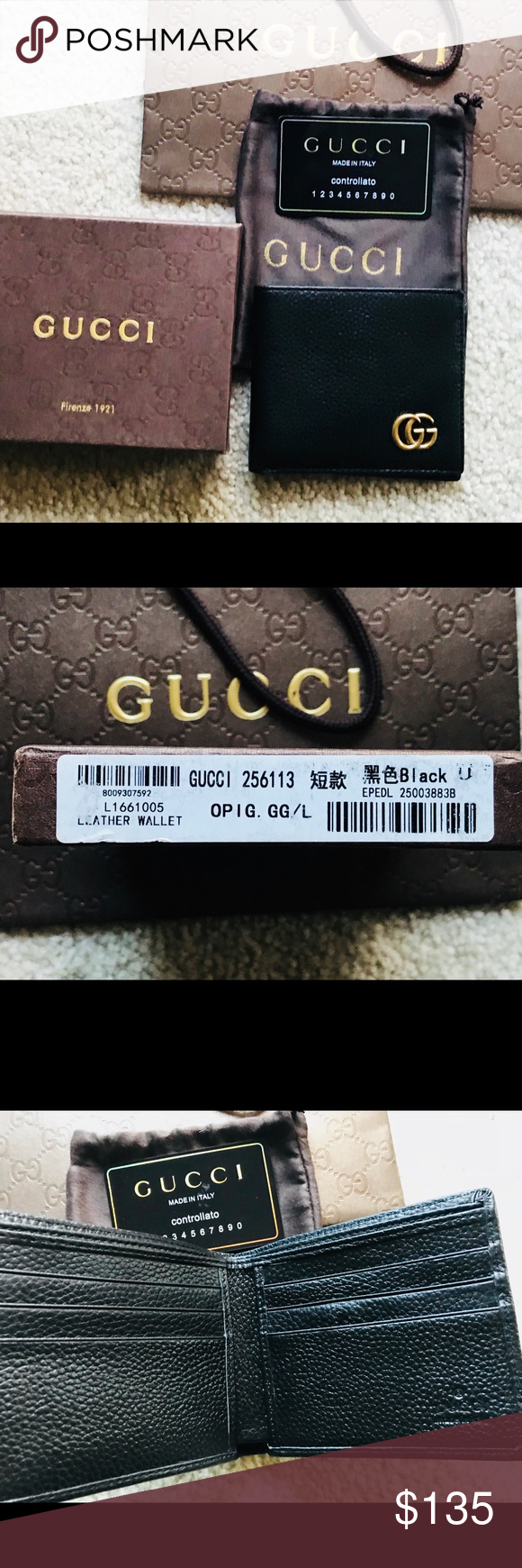 091f4e43f7c Gucci Wallet- Made in Italy Bought it  never used it   brand new with Gucci  box  etc. 100% Authentic so please buy with confidence. Black color Thanks  Gucci ...