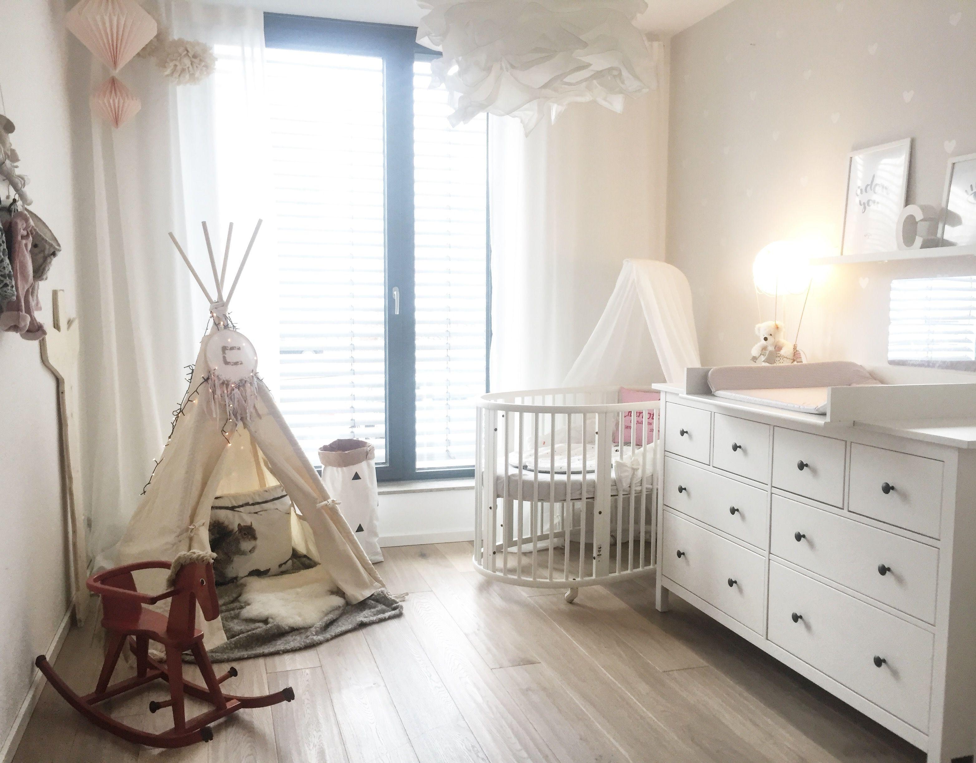 Kinderzimmer babyzimmer tipi Indianer Ikea Hemnes wickelkommode ...