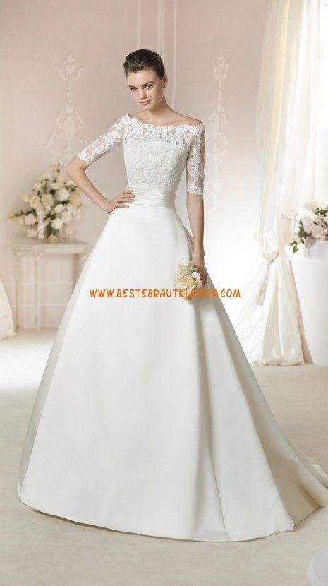Prinzessin Elegante Schlichte Brautkleider Aus Satin Mit Applikation