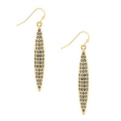 Principles by Ben de Lisi Designer grey crystal navette drop earring- | Debenhams