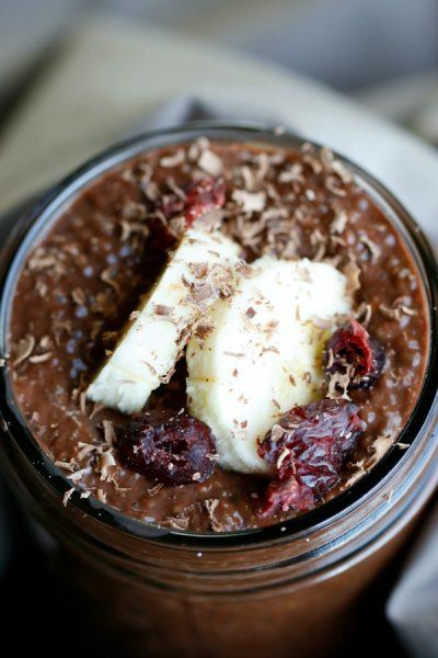 Chocolate Chia Pudding by The Fit Housewife