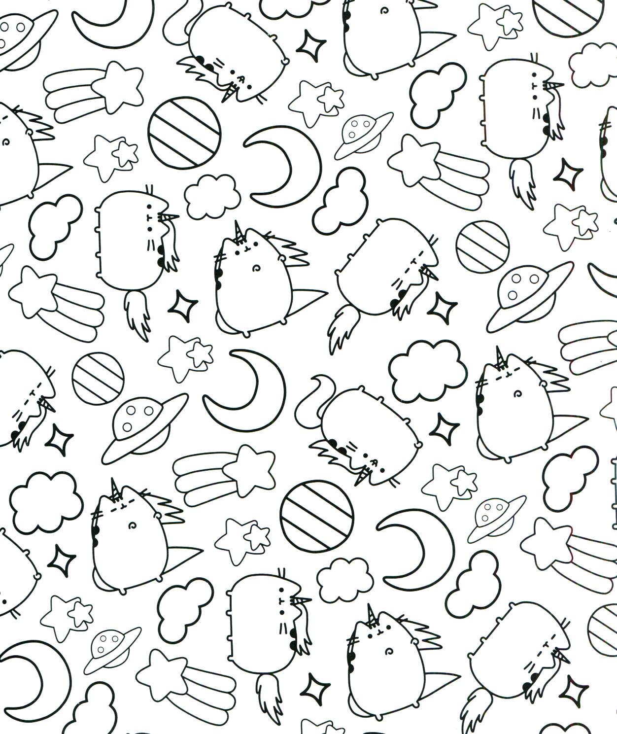 Pusheen Coloring Book Pusheen Pusheen the Cat | Silhouette Cameo ...