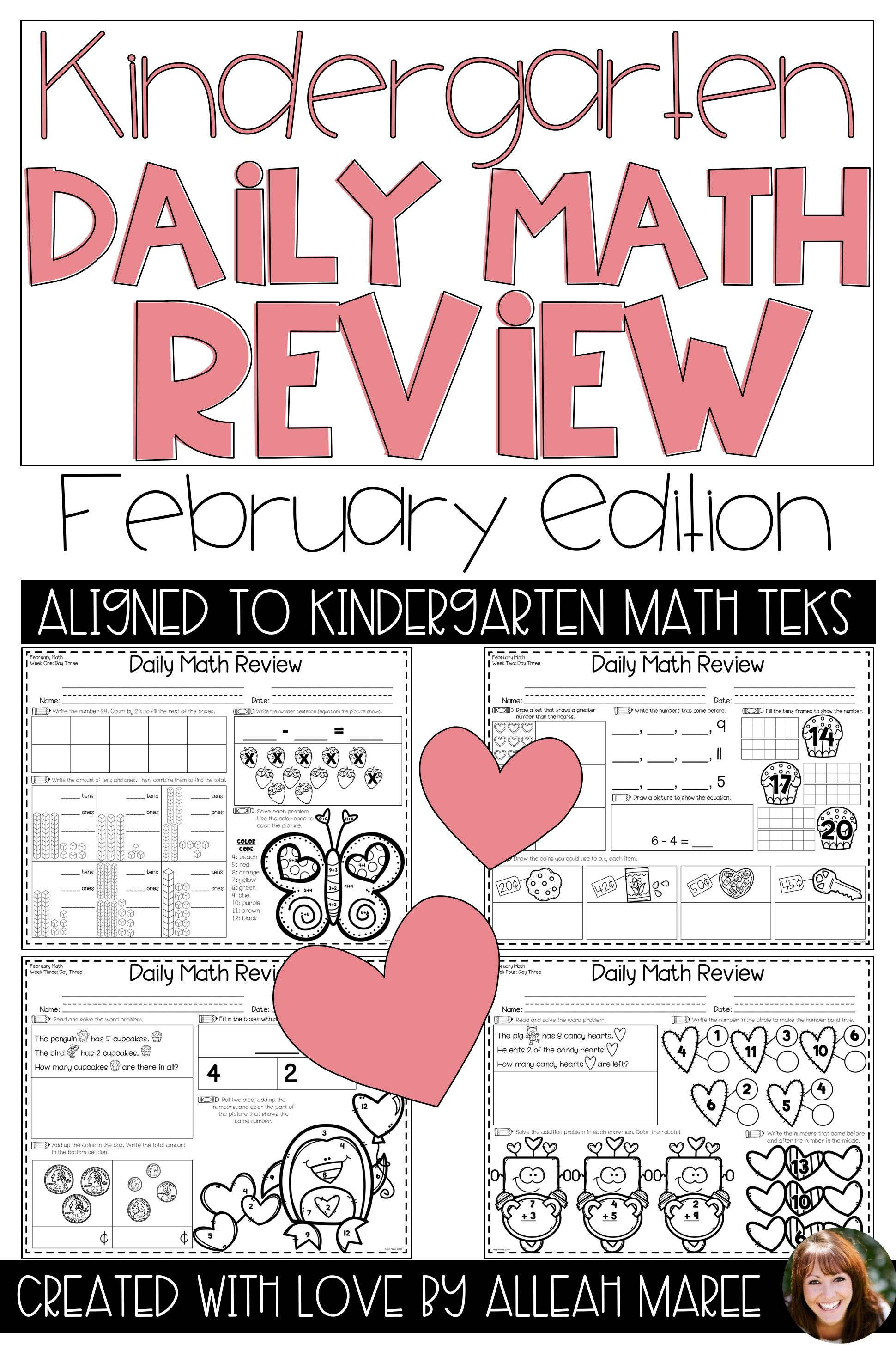 Love Is In The Air For February Get Your Kindergarteners Reviewing Their Math Skills With These Engaging No Prep Kindergarten Math Activities Daily Math Math [ 2910 x 1940 Pixel ]