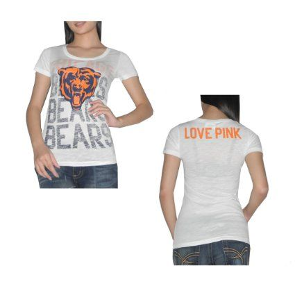 c227b5ca Amazon.com: Pink Victoria's Secret Womens NFL Chicago Bears T Shirt ...