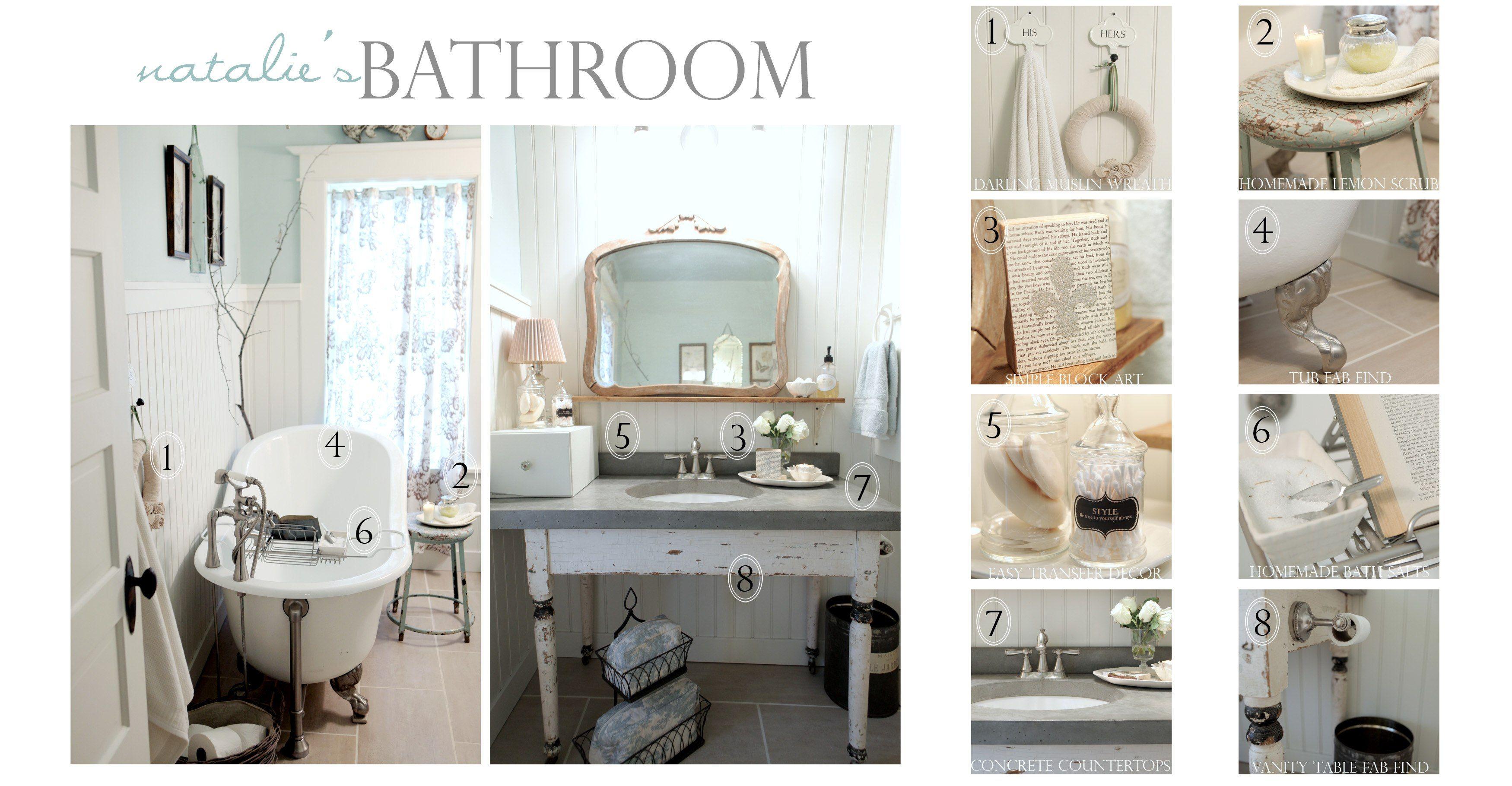 Add Glamour With Small Vintage Bathroom Ideas   ev dekor   Pinterest ...